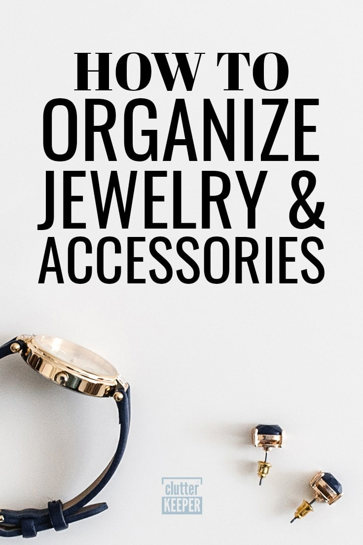 How to Organize Jewelry and Accessories, a close-up of a wrist watch and two earrings.