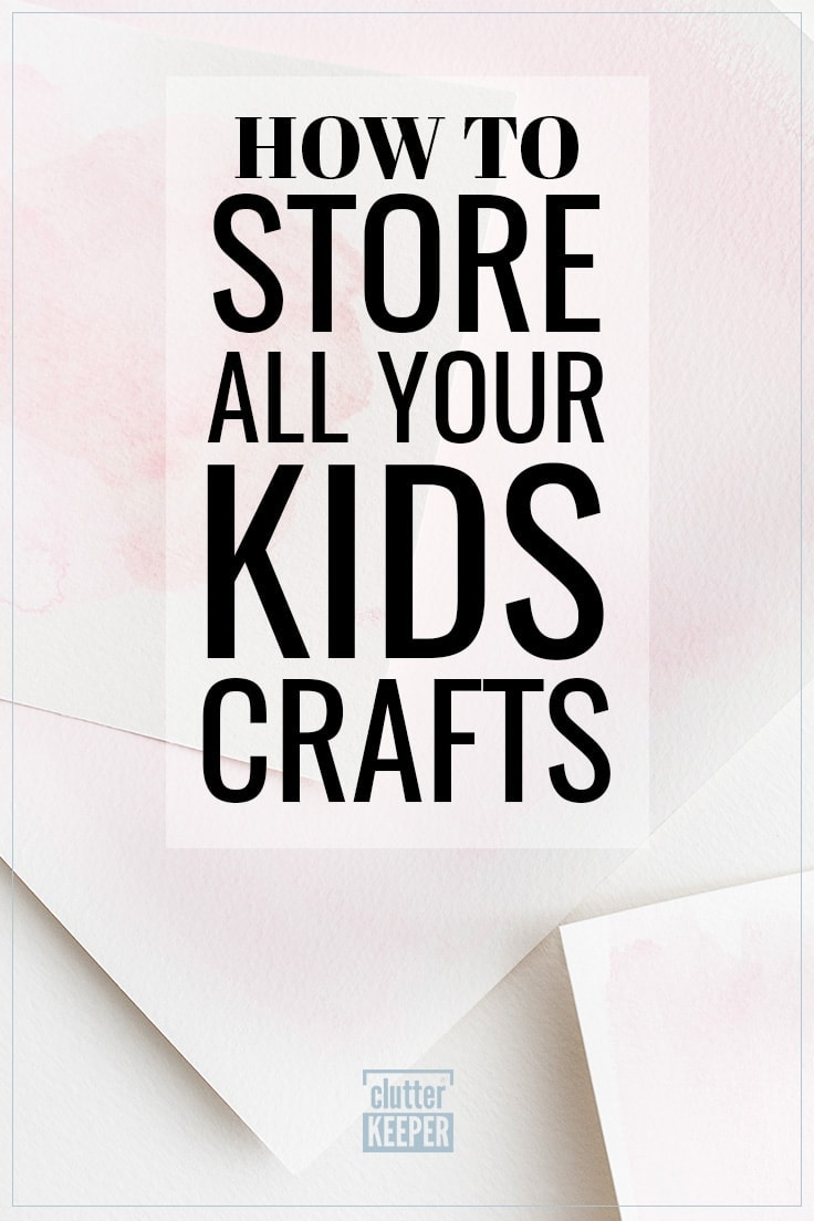 How to Store All Your Kids Crafts, Watercolor paper covered in pink paint