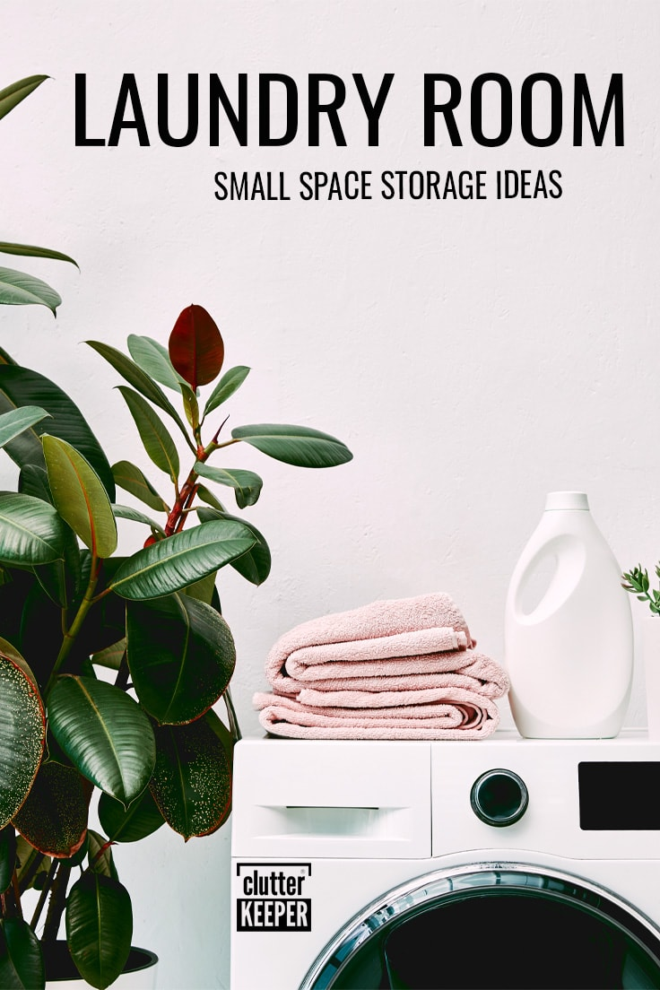 Laundry room small space storage ideas.