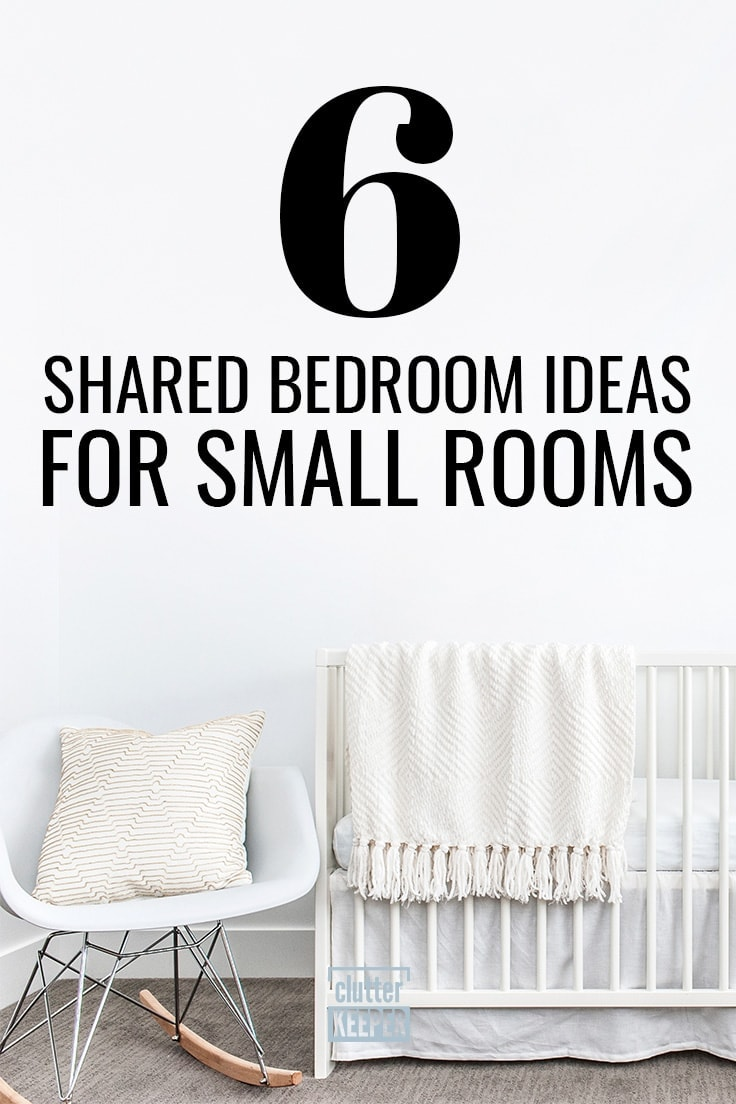 6 Shared Bedroom Ideas for Small Rooms, a close-up of a pillow in a modern rocking chair next to a crib