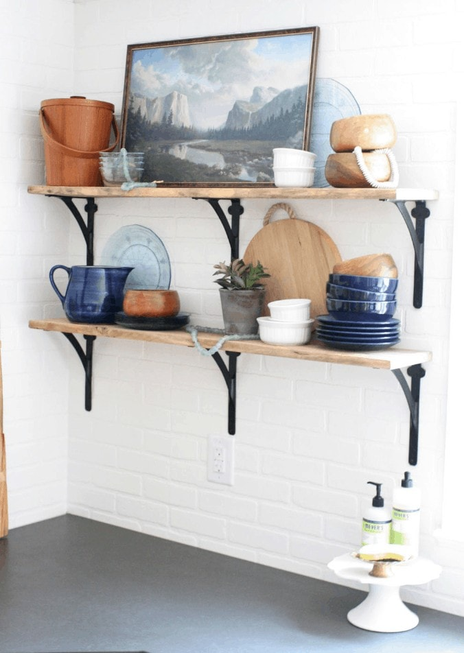 Open Shelves in a Kitchen from Craftivity Designs