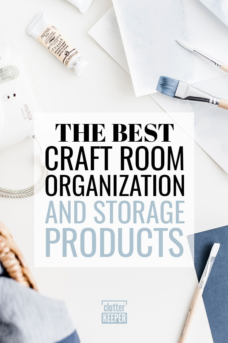The Best Craft Room Organization and Storage Products including watercolor paints and brushes