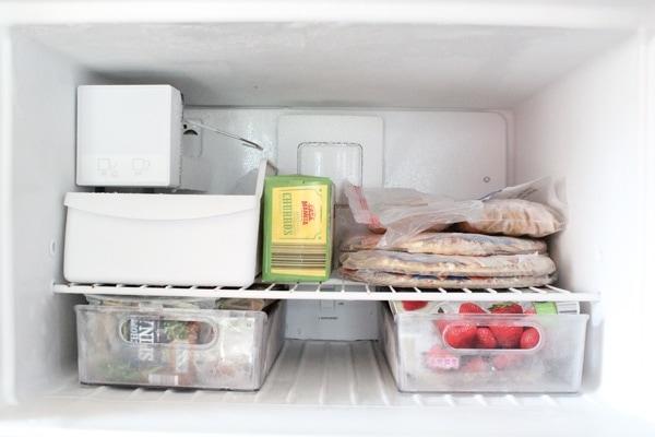 A well-organized freezer