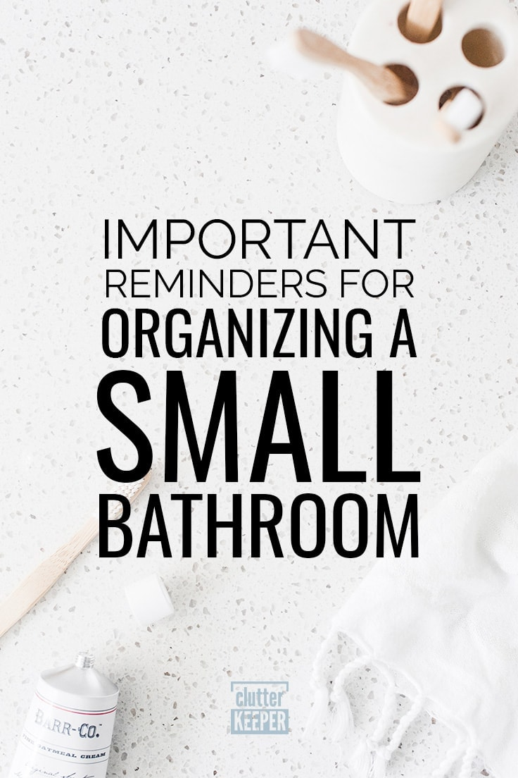 Important Reminders for Organizing a Small Bathroom, a toothbrush, toothpaste, towel and toothbrush holder on the counter in a tiny bathroom