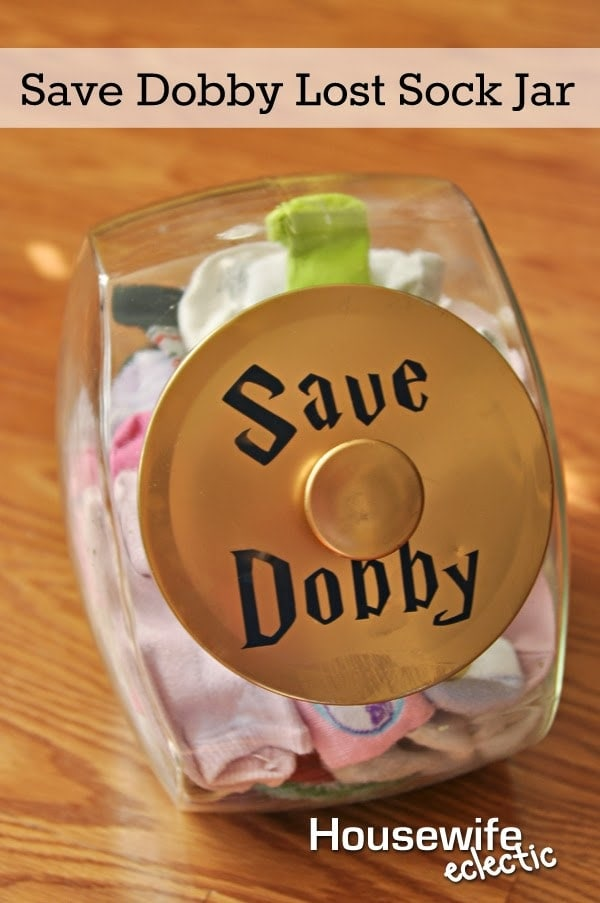 Save Dobby Lost Sock Jar