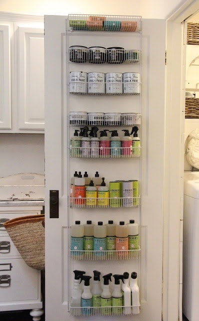 Small Laundry Room Door Organization