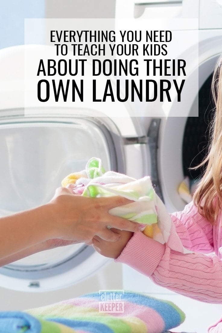 Everything you need to teach your kids about doing their own laundry, mother and daughter folding towels