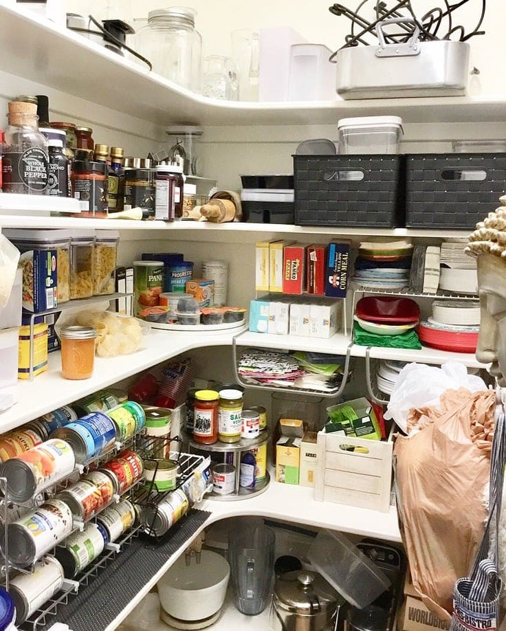 An organized pantry from The Clutter Bee