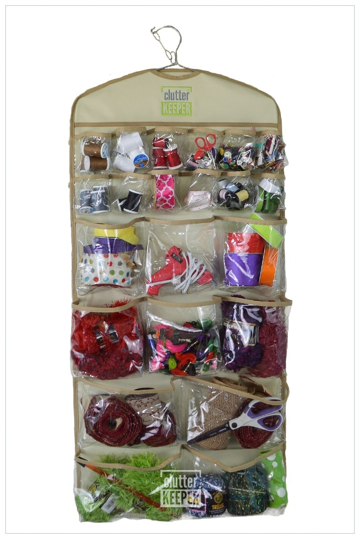 Clutter Keeper® 44 Pocket Hanging Storage Organizer for Craft Supplies and More!