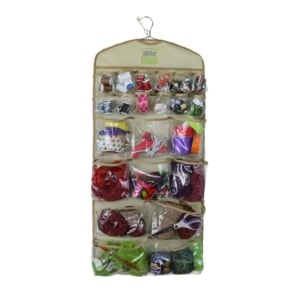 The front side of the Clutter Keeper® Deluxe 44 Pocket Hanging Storage Organizer for closet organization