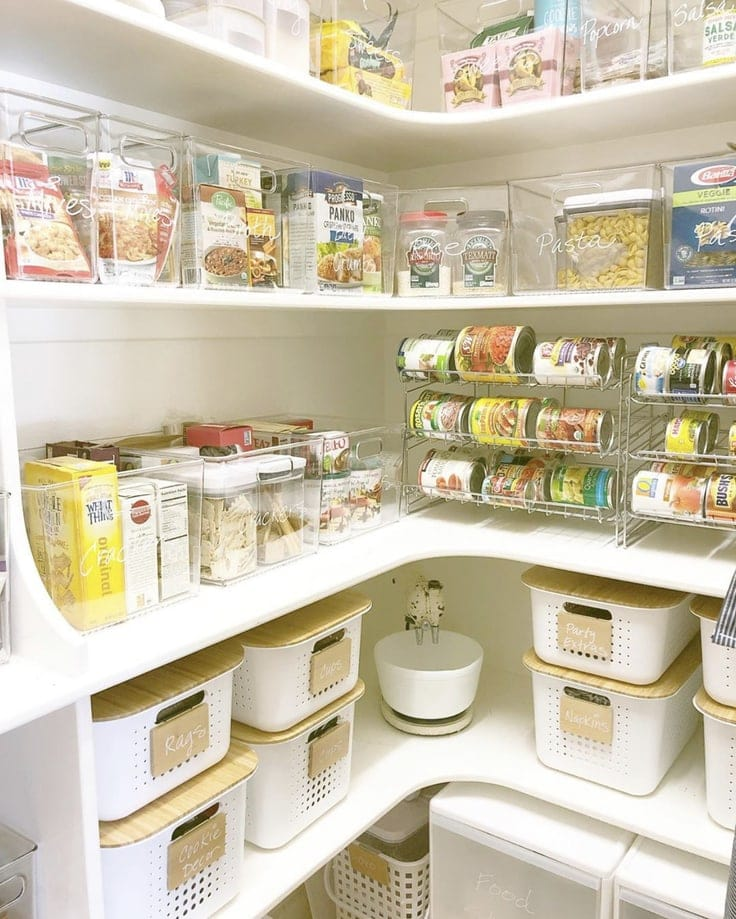 An organized pantry from The Clutter Bee, LLC
