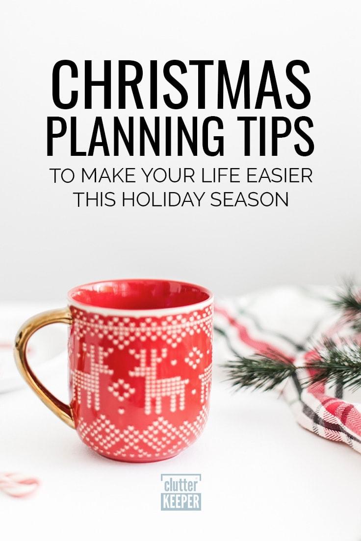 Christmas Planning Tips to Make Your Life Easier This Holiday Season, close-up of a Christmas mug on a tabletop