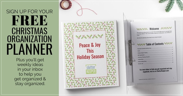 Free Printable Christmas Planner from Clutter Keeper