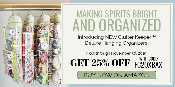 Organizing Your Closet Has Never Been Easier! Introducing 3 New Clutter Keeper Deluxe Hanging Organizers Available Exclusively on Amazon.com - Wrapping Paper and Gift Bags, 15 Pocket Organizing, 44 Pocket Organizer