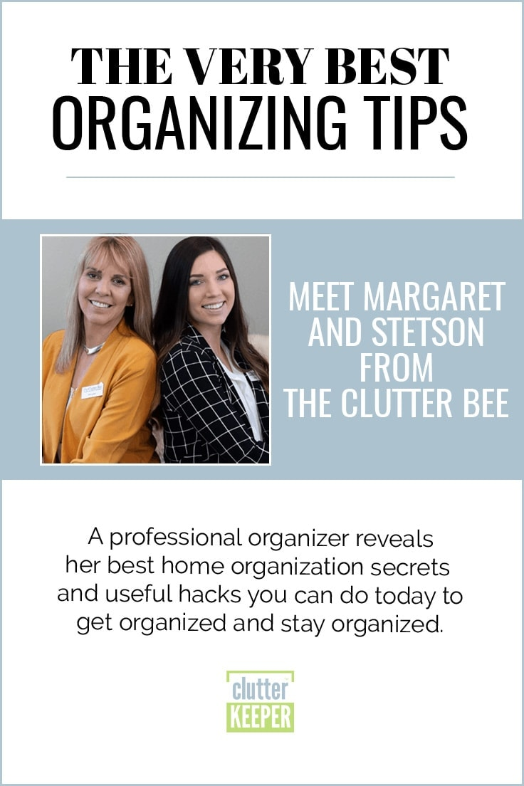 The Very Best Home Organization Ideas from Margaret and Stetson at The Clutter Bee featured on Clutter Keeper®