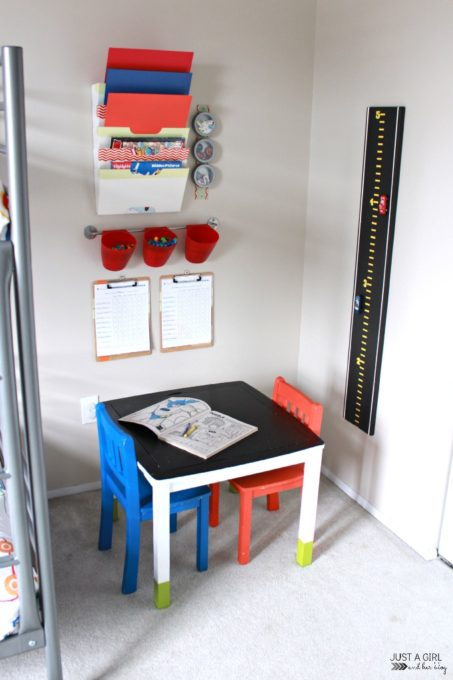A craft corner for kids from Abby of Just a Girl and Her Blog