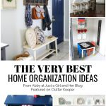 The Very Best Home Organization Ideas from Abby at Just a Girl and Her Blog Featured on ClutterKeeper.com