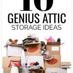 10 Genius Attic Storage Ideas