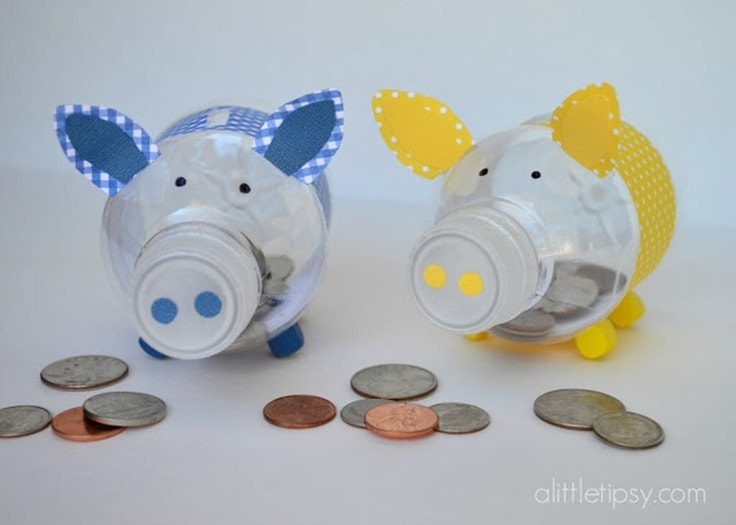 how to make a piggy bank out of plastic bottles