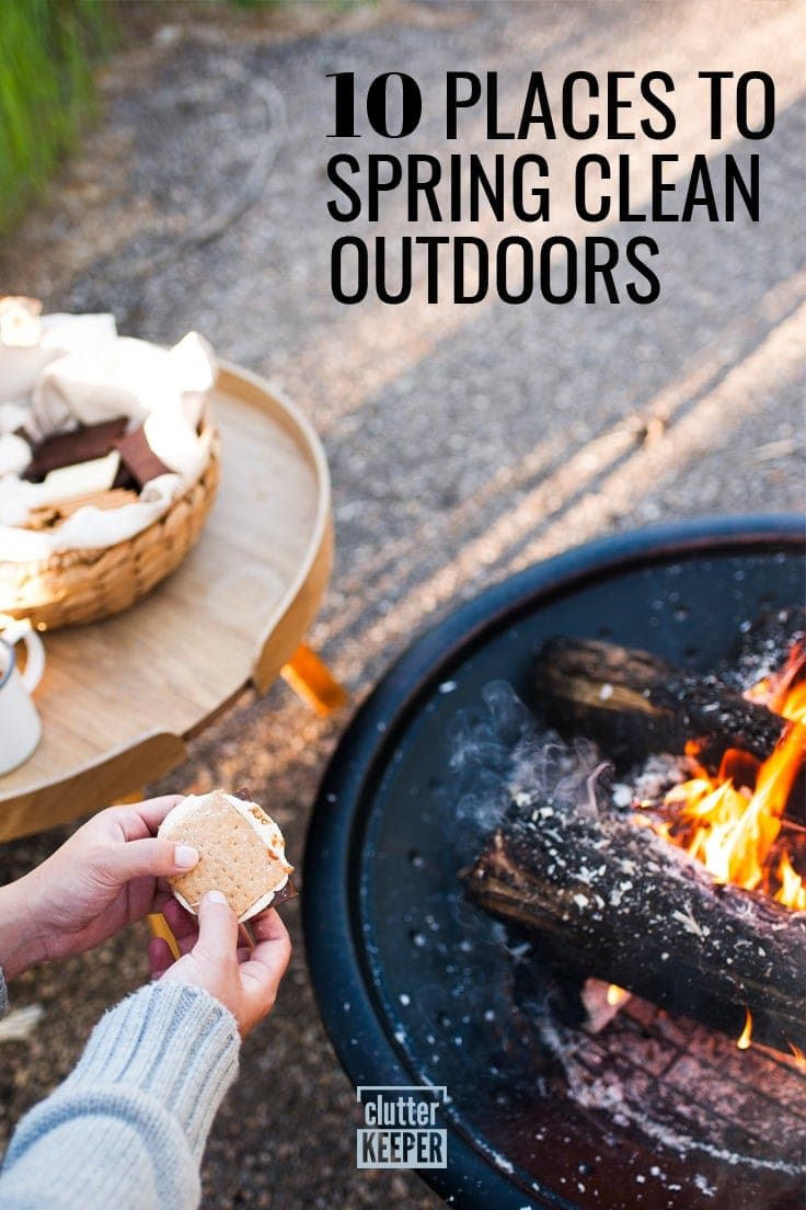 10 Places to Spring Clean Outdoors