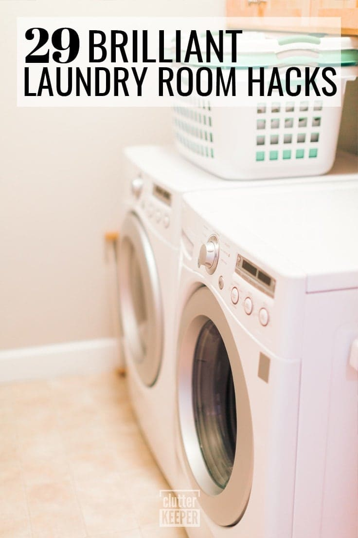 29 Brilliant Laundry Room Hacks