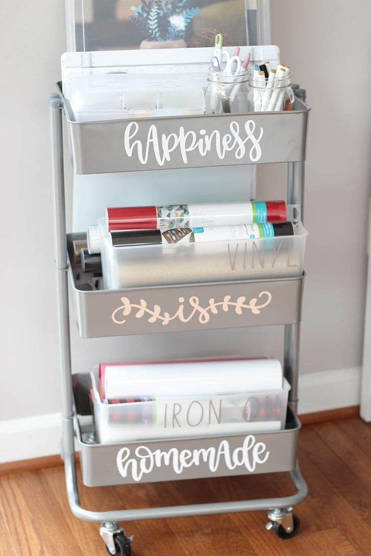 A Cricut Storage Cart