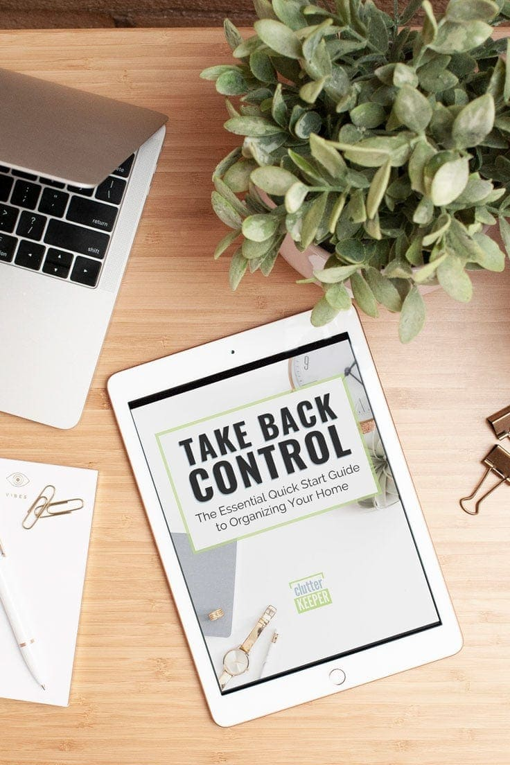 Take Back Control digital eBook displayed on an iPad on a desk in a home office