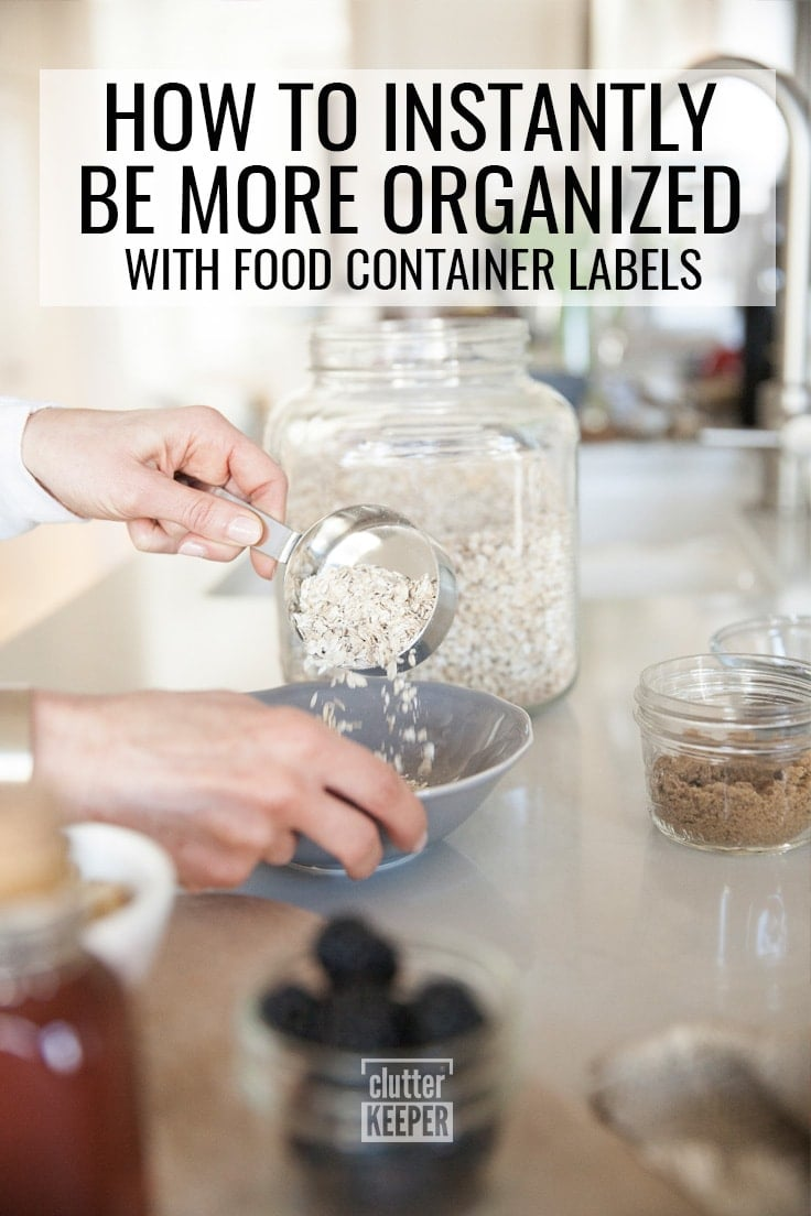 How to Instantly Be More Organized with Food Container Labels