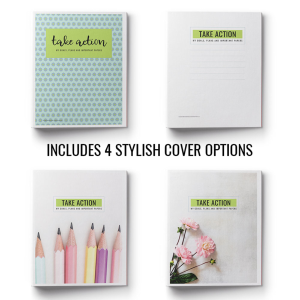 The Take Action Printables Binder is full of 35+ worksheets, checklists and other printables that will help you organize every aspect of your home life.