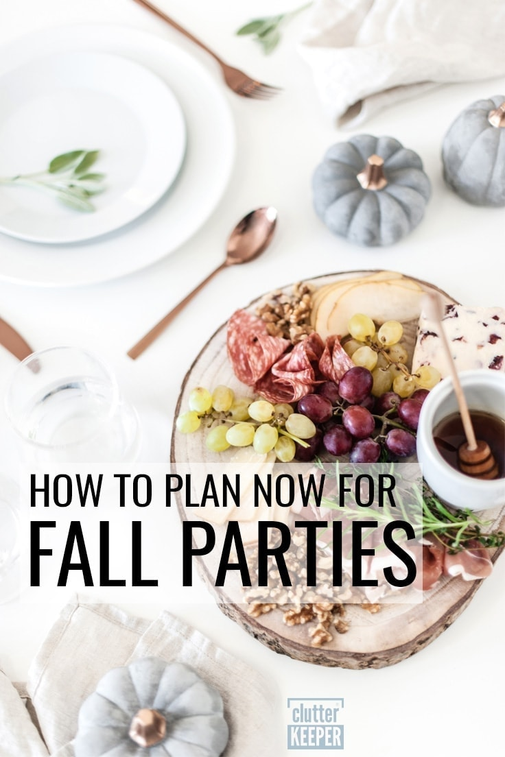 How to Plan Now for Fall Parties