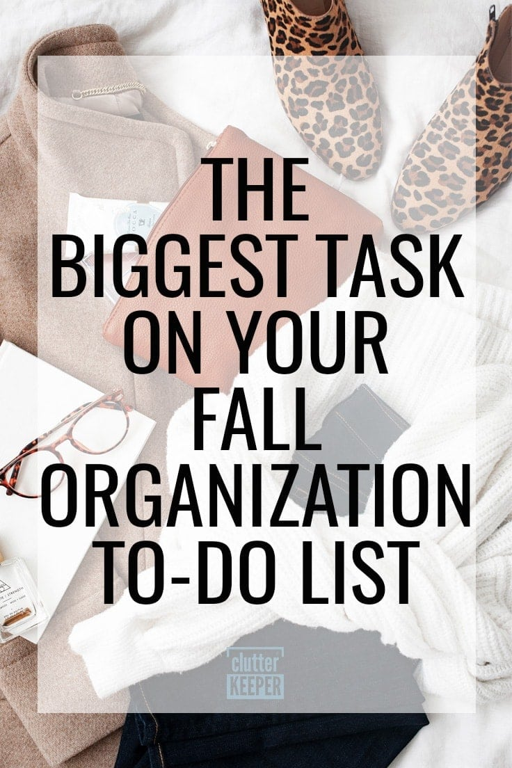 The Biggest Task on Your Fall Organization To-Do List