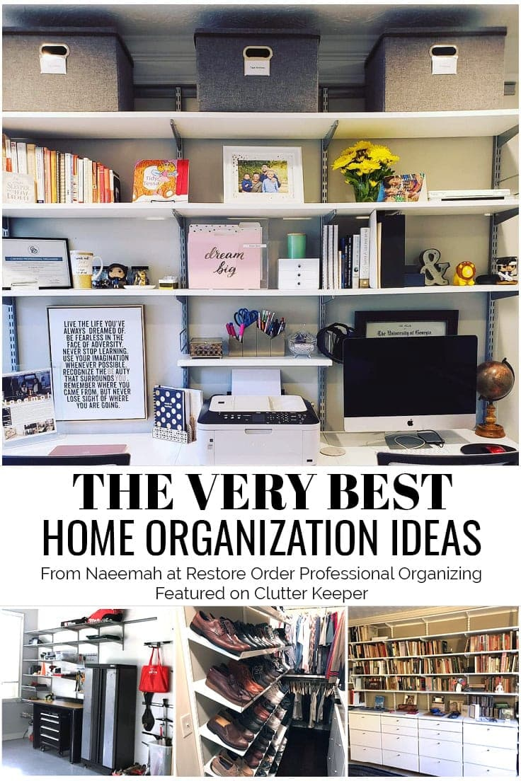 Naeemah Ford Goldson, CPO, owner of Restore Order Professional Organizing, LLC, wears many hats! She's a children's book author, professional organizer, and Closet Envy designer. Get to know some of her biggest tips and hacks!