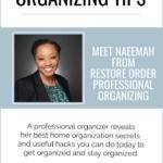 Naeemah From Restore Order Professional Organizing - Tidy Tessa Author