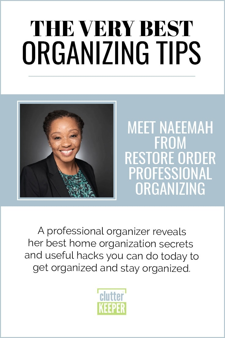 Naeemah From Restore Order Professional Organizing - Tidy Tessa Author