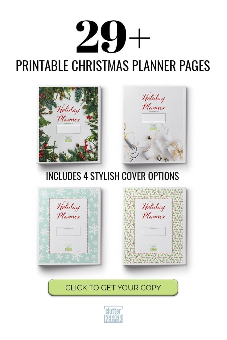 29+ Printable Christmas Planner Pages Includes 4 Stylish Cover Options - Click to Get Your Copy