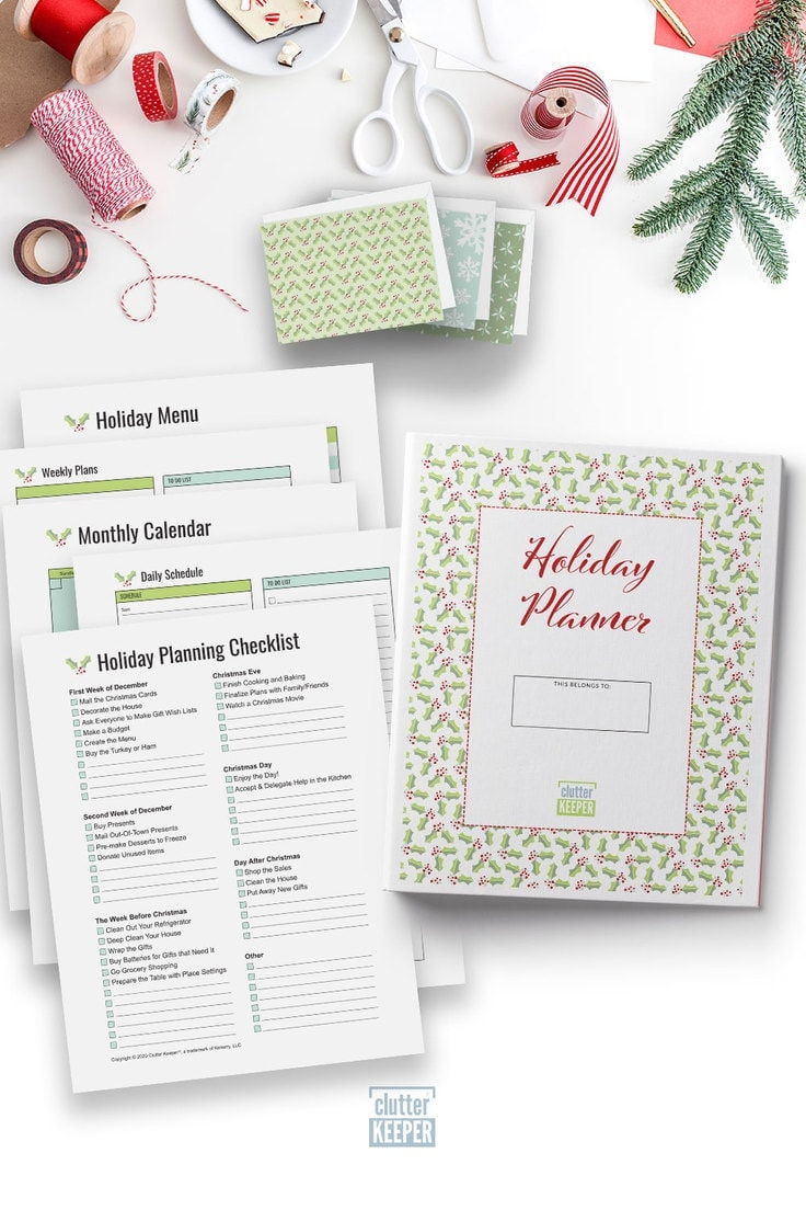 TheClutter Keeper® Holiday Planner is full of 29+ worksheets, checklists and other printables that will help you to get organized, feel less stressed and find joy this Christmas season.