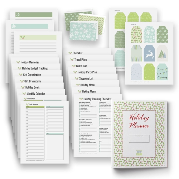 Clutter Keeper Holiday Planner - 29+ Holiday Organization Worksheets and Checklists
