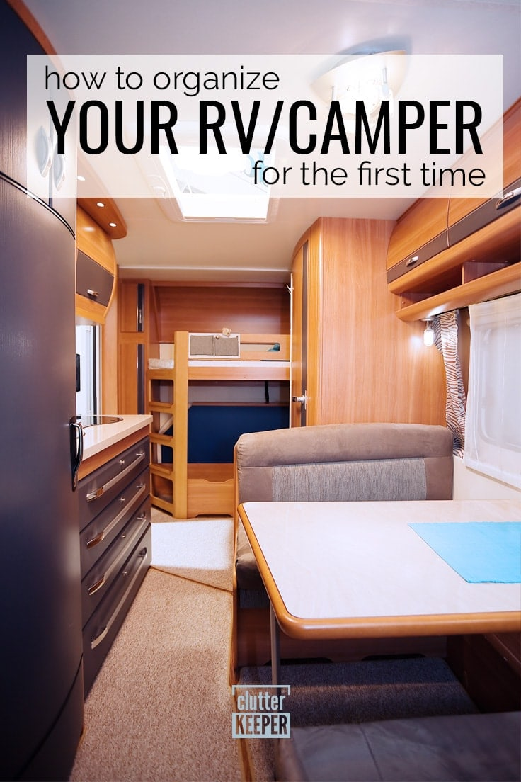 How to organize your RV/camper for the first time