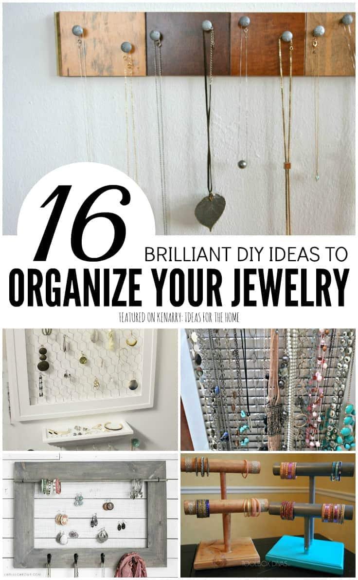 DIY Jewelry Organizer: 16 Brilliant Storage Ideas